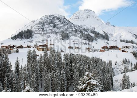 The Picturesque Alpine Village Of Warth-Schrocken, Austria