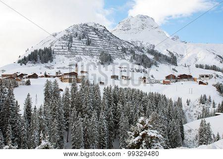 The Picturesque Alpine Village Of Warth-Schrocken, Austria