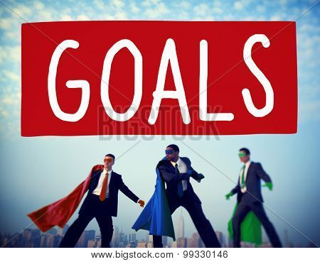 Goals Aspiration Achievement Inspiration Target Concept