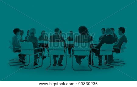 Group of Diverse Multiethnic People Meeting Concept