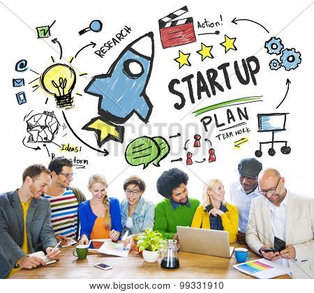 Start Up Business Launch Success People Meeting Concept