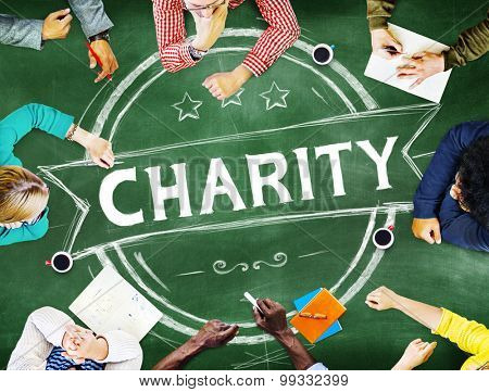 Charity Donation Volunteer Help Support Concept