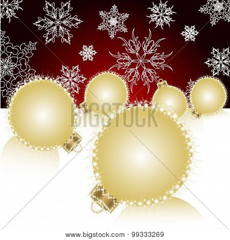Christmas Ball On Abstract Light Background. Vector