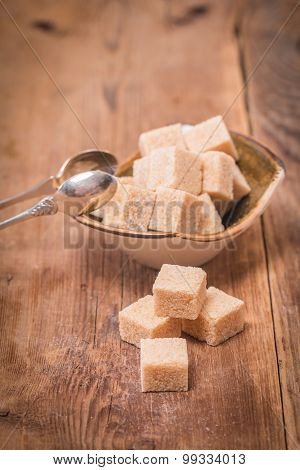 Brown Cane Sugar In Bowl