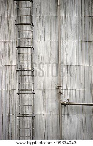 Storage with ladder