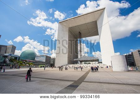 Grande Arche De La Defense In Paris, France