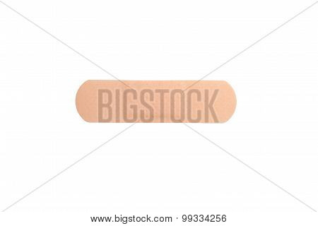 Close Up Of Adhesive Plaster Isolated On White
