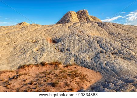 Sandstone rock formation at the White Pocket, Amazing desert landscape