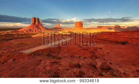 Sandstone rock formation Monument valley