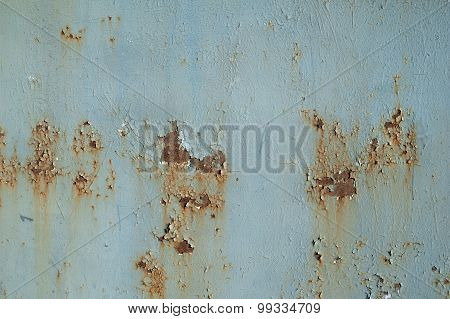 Texture Of Rusty Metal Wall