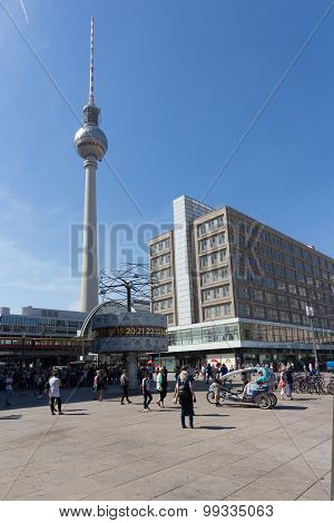 Tv tower and Alexanderplatz, Berlin, Germany.