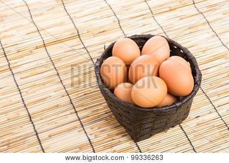 Egg Collection In The Basket