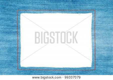 Denim Frame With Light Jeans