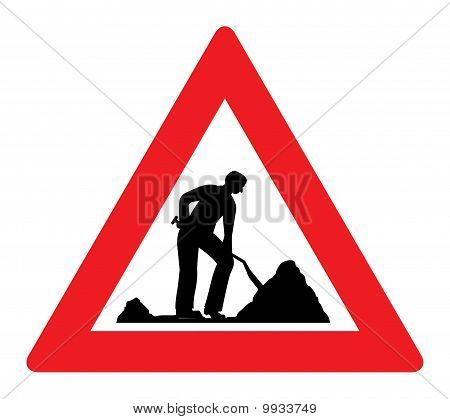 Man At Work Road Sign