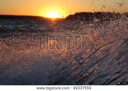 Splashing water Sunset