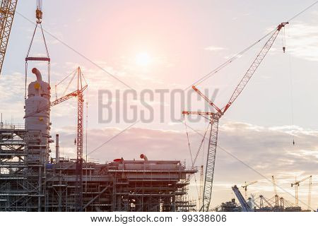 Construction Industry Oil Rig Refinery Working Site