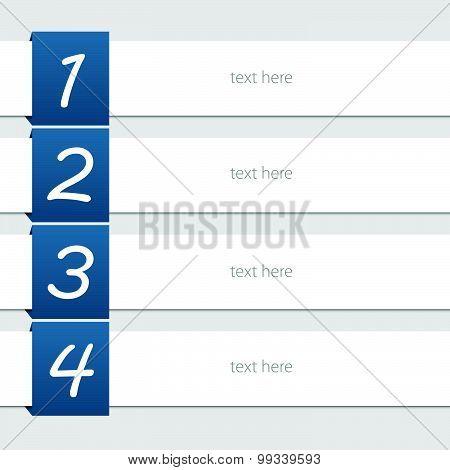 Lorem Ipsum With Number Vector