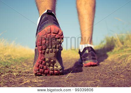 Vintage Runner's feet