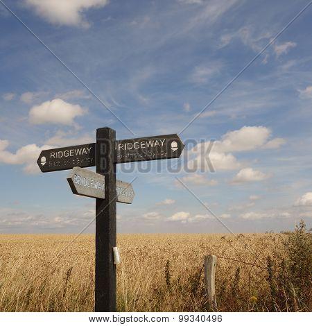 Ridgeway Path Sign