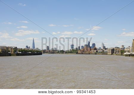 London's Skyline, As Viewed From Canary Wharf
