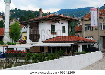 Inat Kuca (House of Spite),SARAJEVO,BOSNIA AND HERZEGOVINA-JULY 13, 2105