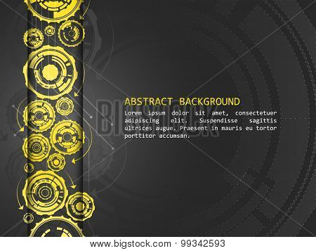 Abstract vector background with technological pattern