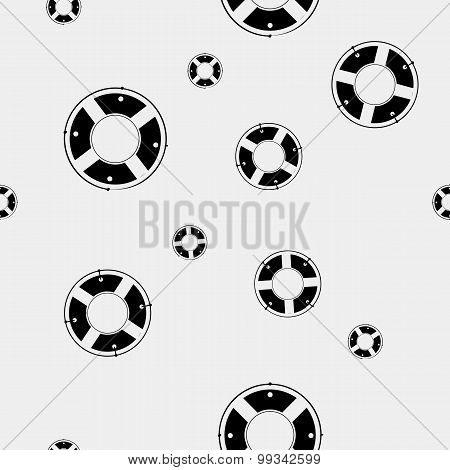 Seamless vector pattern with lifebuoys. Can be used for wallpaper, fills, web page background, surfa