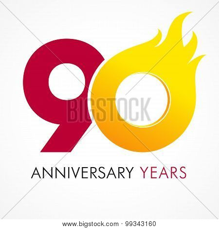90 anniversary flame logo