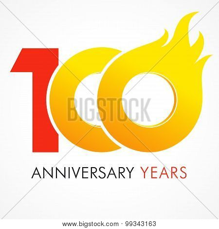 100 anniversary flame logo