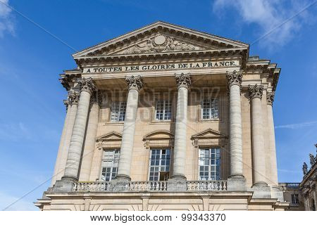 Facade Of Palace Versailles Near Paris, France