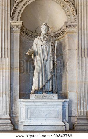 Statue Napoleon Bonaparte At The Palace Versailles Near Paris, France