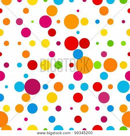 Abstract Colorful Round Celebration Background. Vector Illustration Template.
