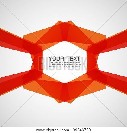 abstract bright ribbons on a white background