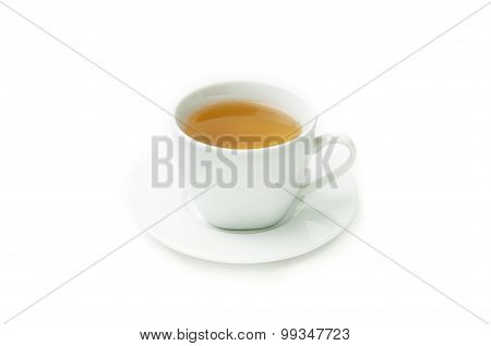 Cup of tea isolated on white background.