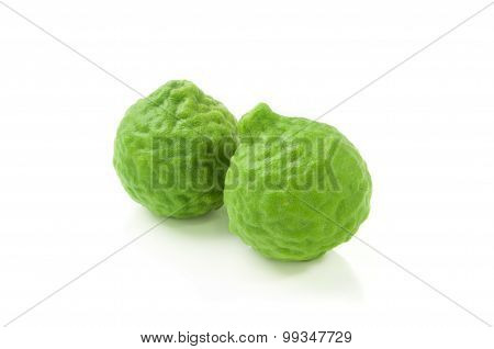 Bergamot isolated on white background.