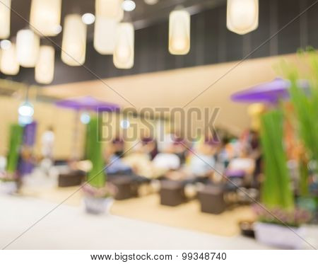 Blur Image Of People  In Spa Environment.