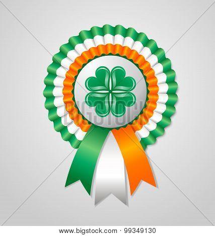 Saint Patrick's Day Irish Rosette