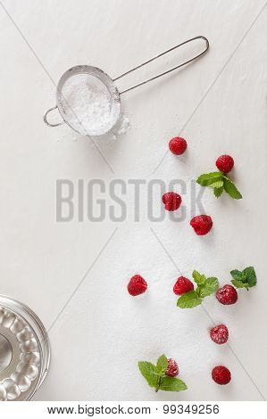 Background with food ingredients