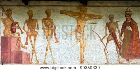 Fresco Macabre Dance - Pinzolo Trento Italy