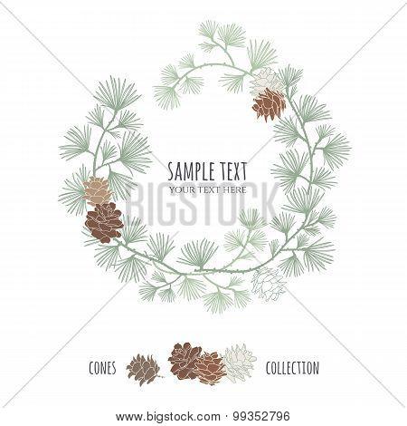 Pine wreath.