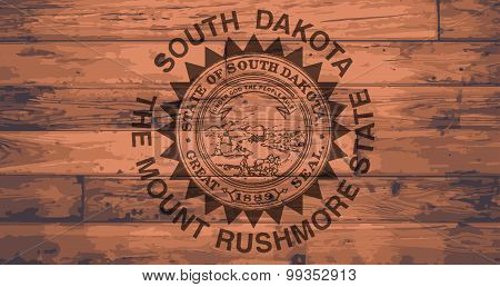 South Dakota Flag Brand