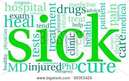 Sick Word Cloud