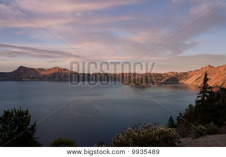 Sunset In Crater Lake