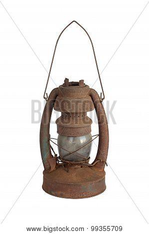 Rusted Kerosene Lamp