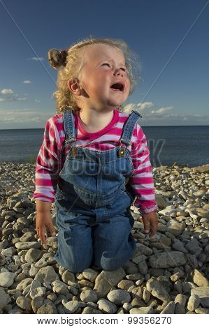 Little Girl Weeping By The Sea.