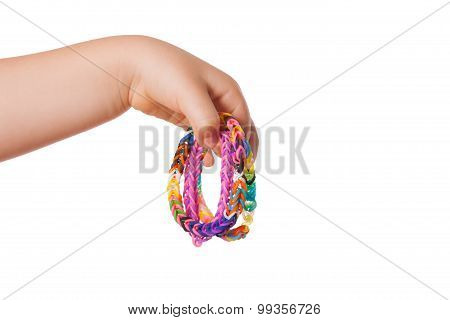 Child Hand With Loom Strap