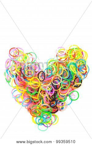Rainbow Colored Loom Heart