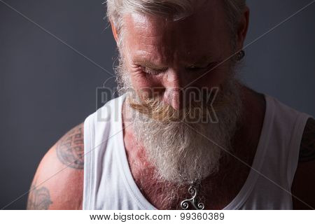 Portrait Of Man With Long White Beard