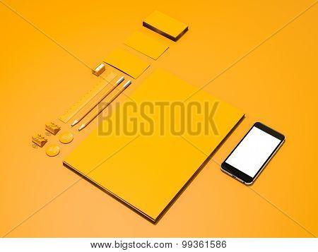 Yellow Corporate Identity Mockup