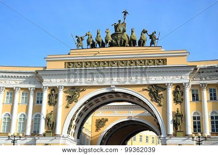 The Arch Of General Staff On Palace Square.